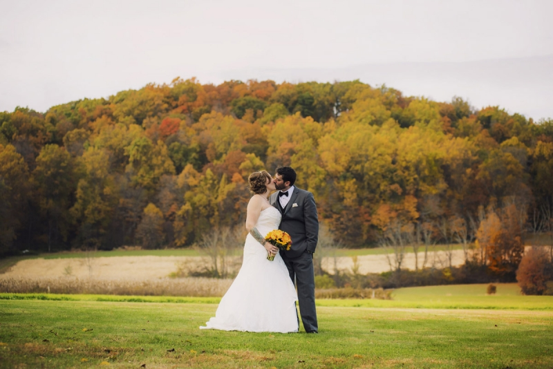 Katie and Josh Fall Foliage Bally Springs Inn Wedding Pottstown Pennsylvania