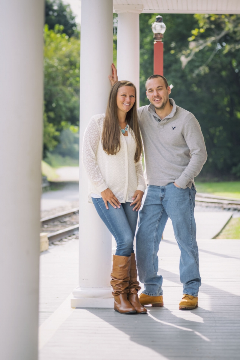 Emily and Greg Historic Rail Trail Hanover Junction Pennsylvania Engagement