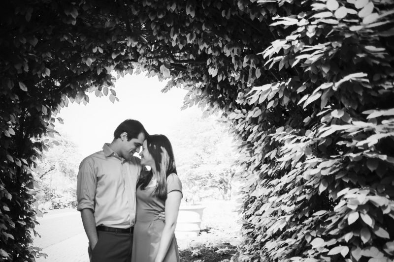 Joey and Meg Longwood Gardens Pennsylvania Engagement Photographer