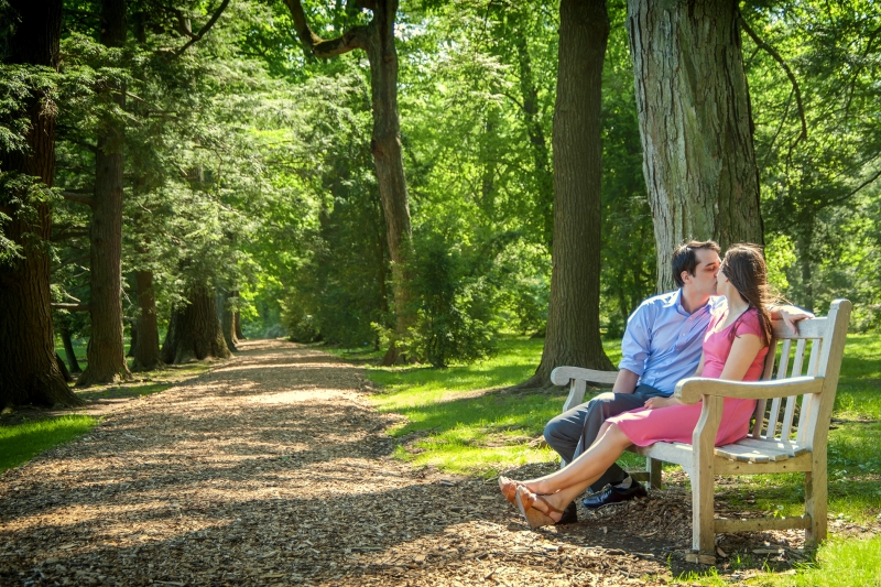 Joey and Meg Longwood Gardens Pennsylvania Engagement Photographers