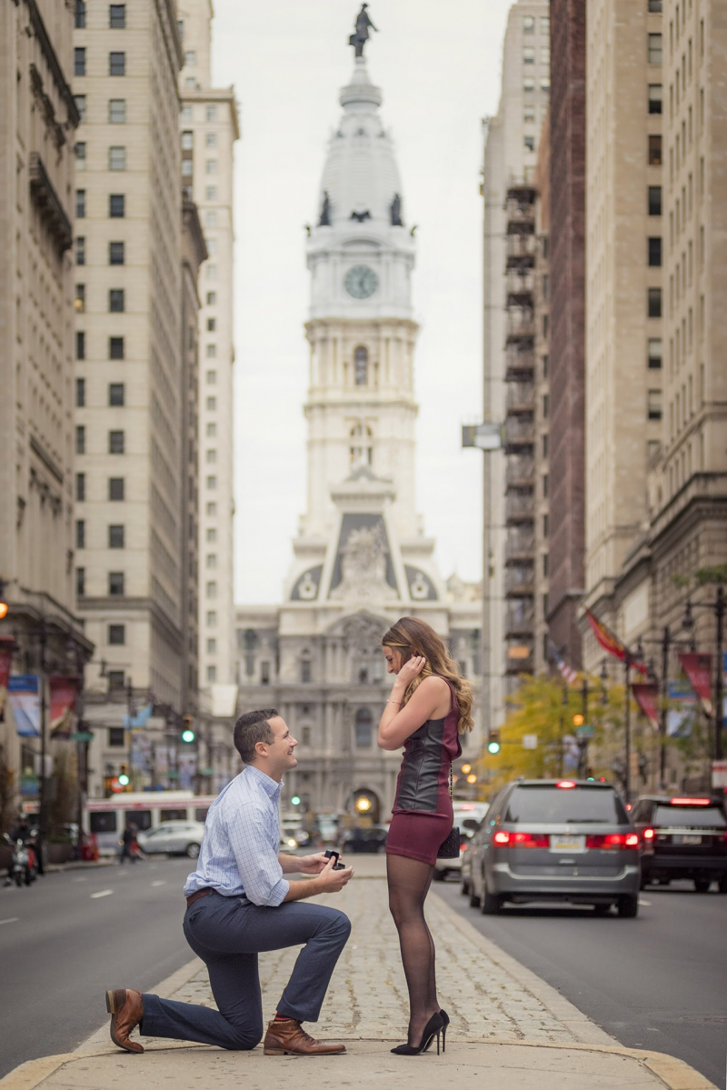 philadelphia surprise engagement photographer
