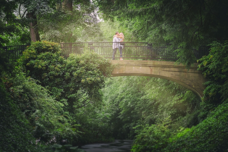 rick laura longwood gardens engagement photography
