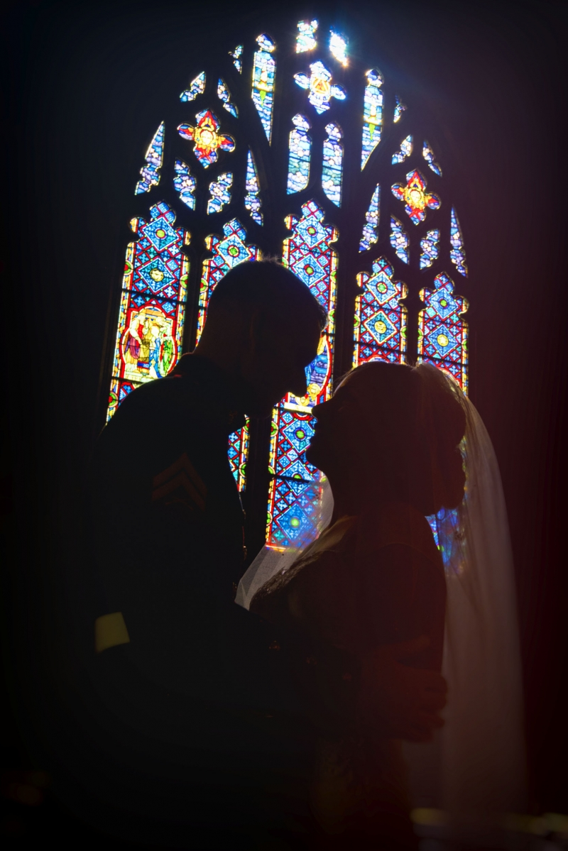 Amanda and Kyle West Chester Pennsylvania Marine Wedding at St. Agnes Church