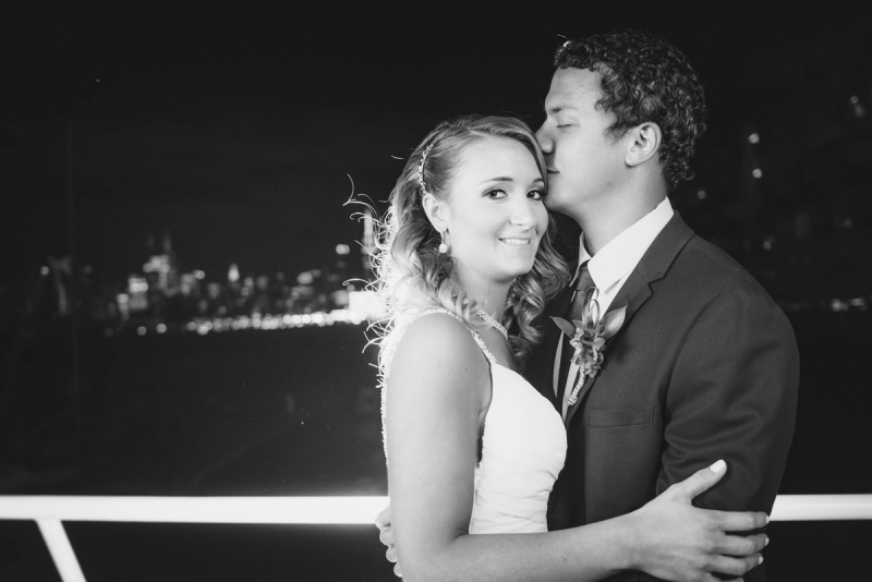 Rebecca and Marcus Weehawken Hudson River NYC Cruise Wedding