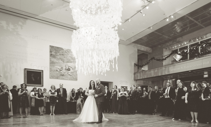New Years Eve Wedding Delaware Art Museum Wilmington Delaware