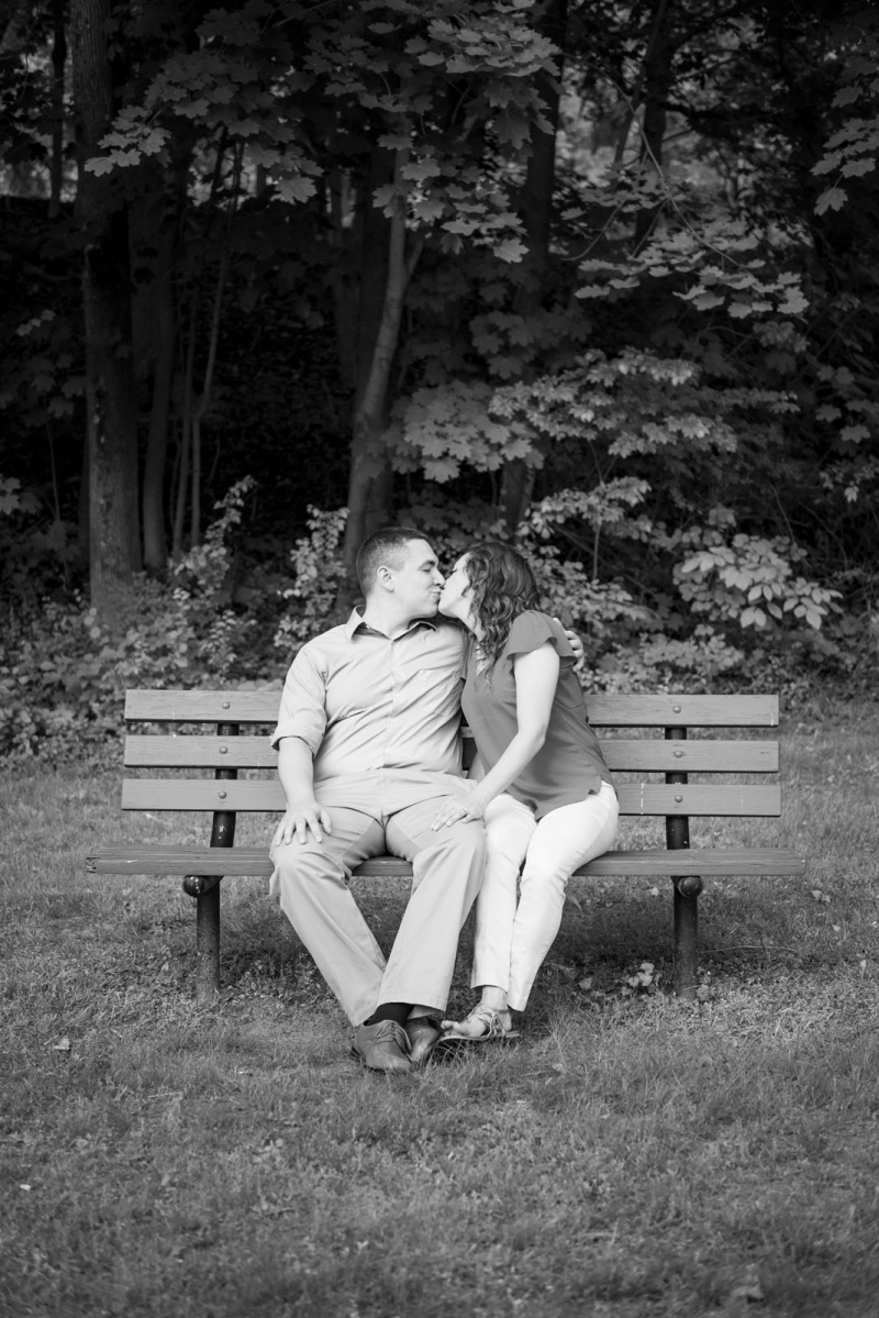 The Engagement of Caitlin and Andre at Valley Garden Park Wilmington Delaware