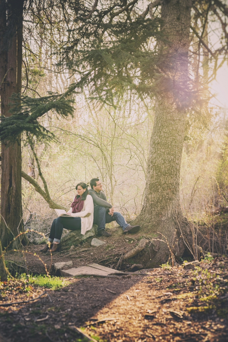 The Exton Pennsylvania engagement of Donna and Richard at March Creek State Park