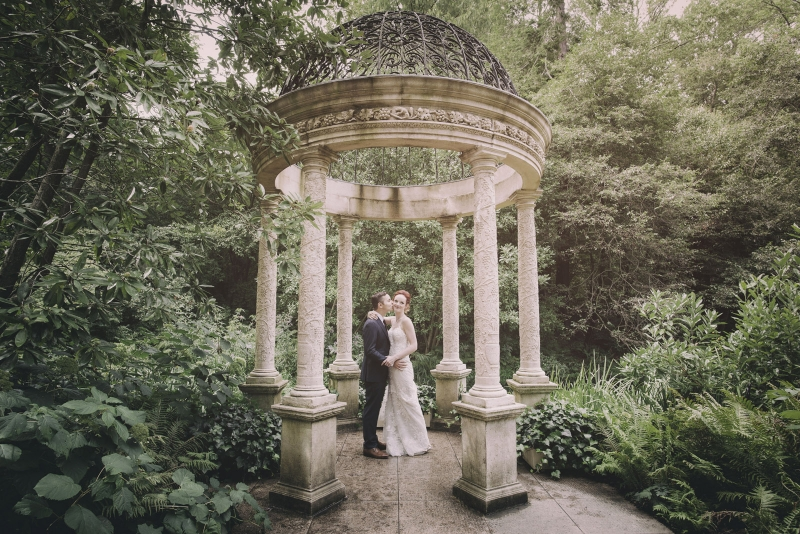 The Longwood Gardens First Look and Wedding of Kayla and Kyle