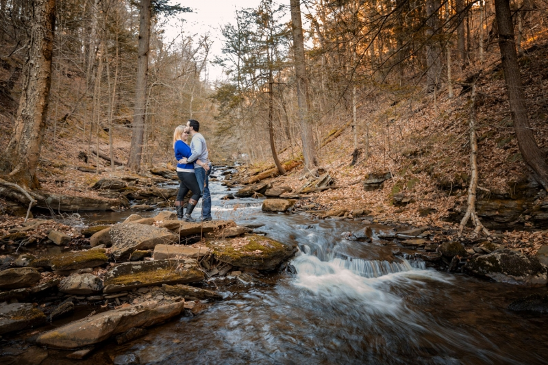 Morganne and Tom Ricketts Glen Engagement