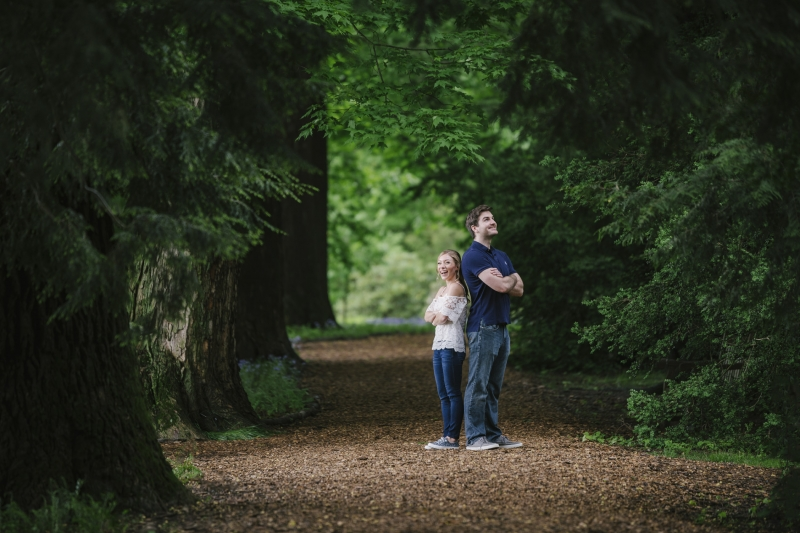 Amanda and Conner Longwood Gardens Engagement Kennett Square PA