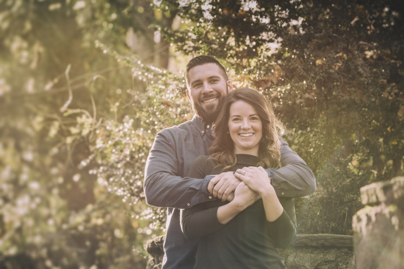 Stephanie and Keith Ridley Creek Pennsylvania State Park Engagement