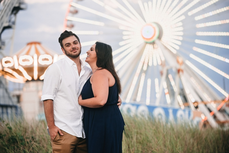 Wildwood New Jersey Engagement by Photographer Justin Heyes