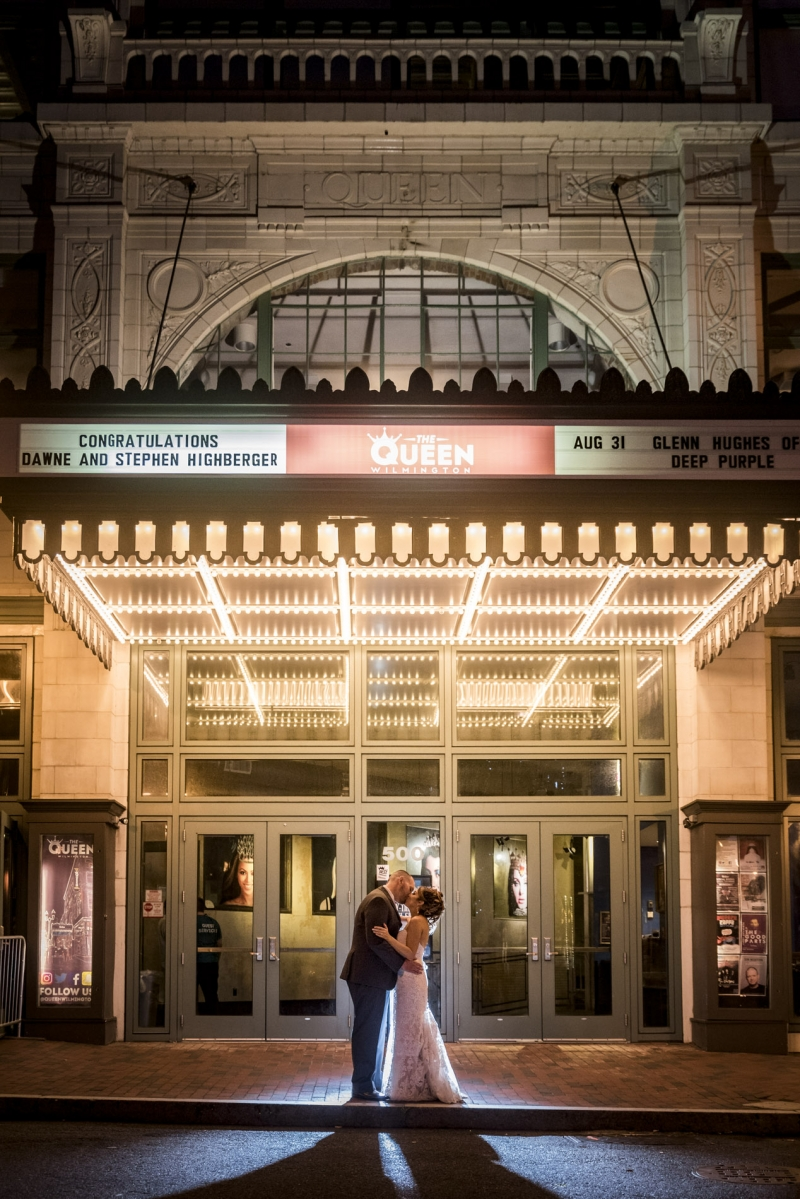 Queen Theatre Wilmington Delaware Wedding of Dawne and Stephen