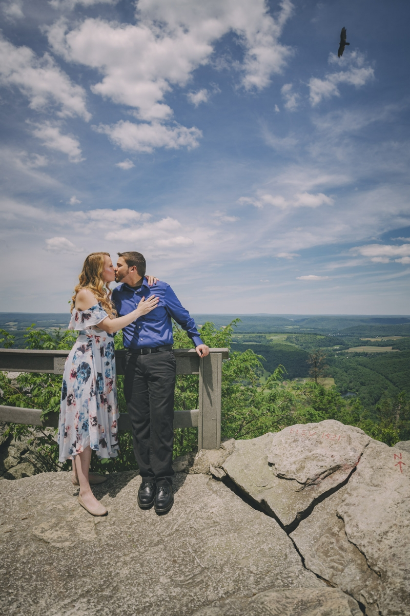 Valerie & Kiel Hawk Mountain Pennsylvania Engagement