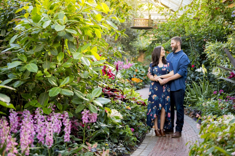 The Longwood Gardens Kennett Square Pennsylvania Engagement of Danielle and Ray