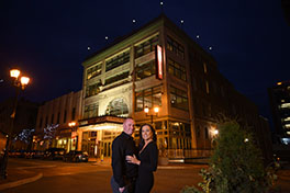 Leah and Chase's Queen Theatre Engagement