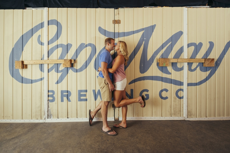 A Cape May Brewing Co. New Jersey Engagement of Andrea and Gary